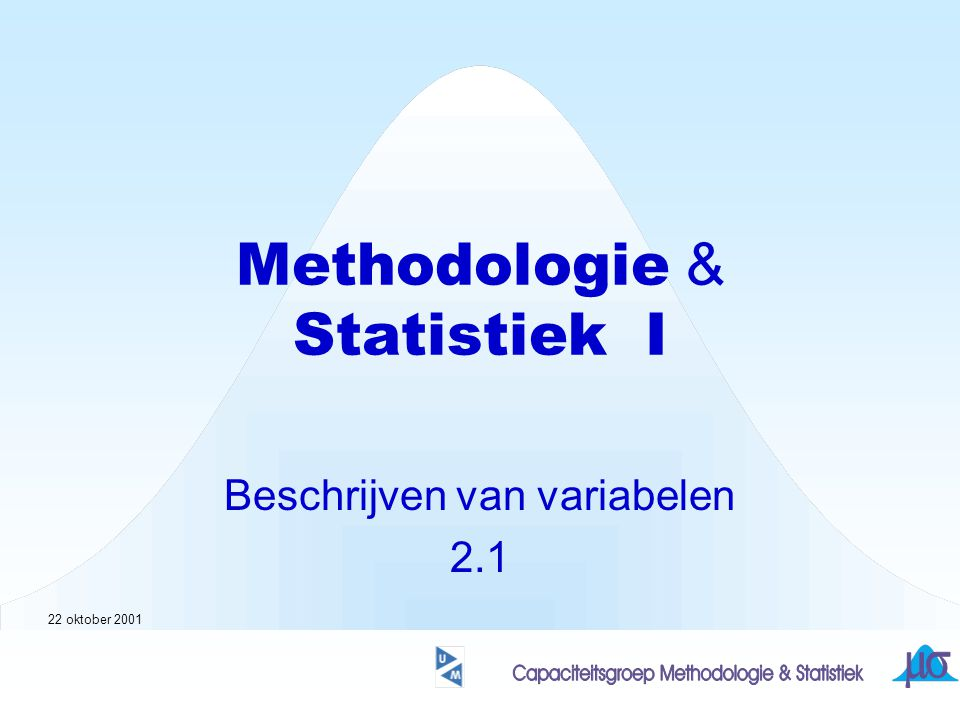Methodologie & Statistiek I