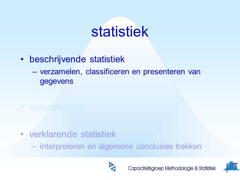 statistiek beschrijvende statistiek kansrekening