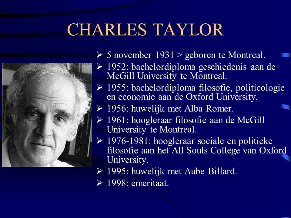 CHARLES TAYLOR 5 november 1931 > geboren te Montreal.