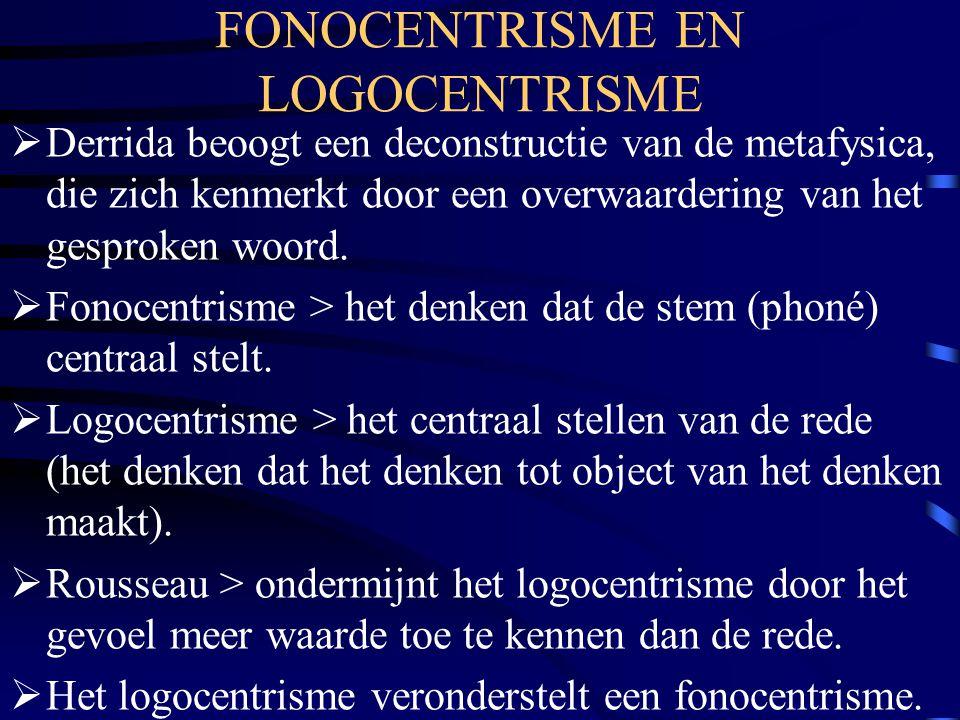 FONOCENTRISME EN LOGOCENTRISME