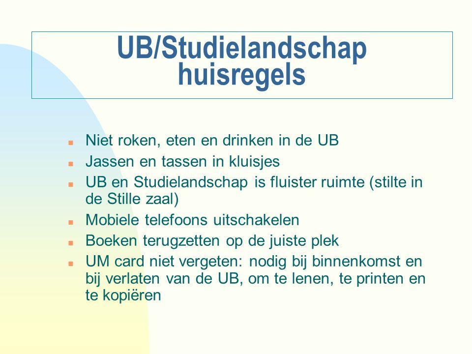 UB/Studielandschap huisregels