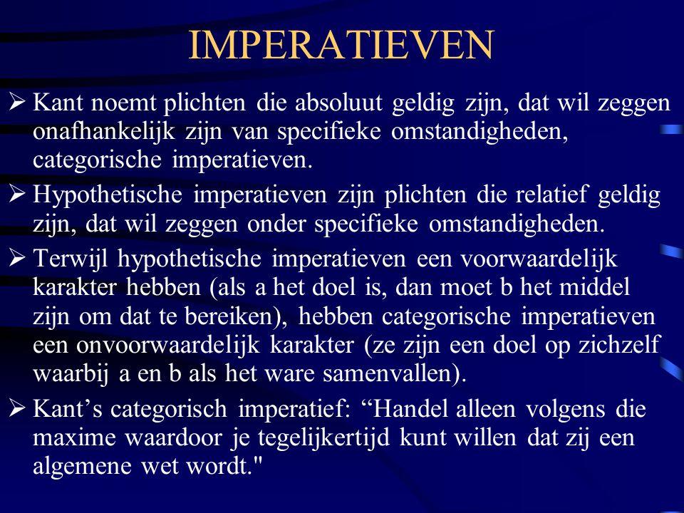 IMPERATIEVEN
