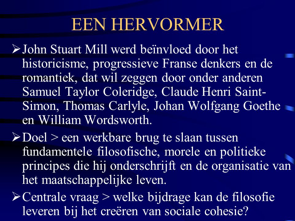 EEN HERVORMER
