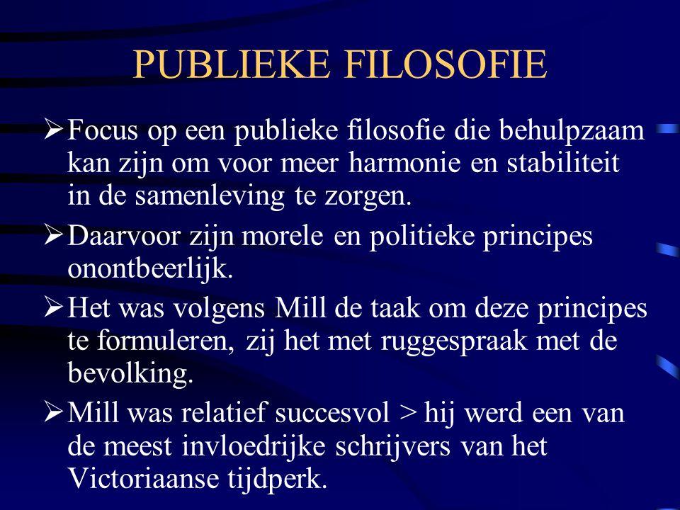 PUBLIEKE FILOSOFIE Focus op een publieke filosofie die behulpzaam kan zijn om voor meer harmonie en stabiliteit in de samenleving te zorgen.