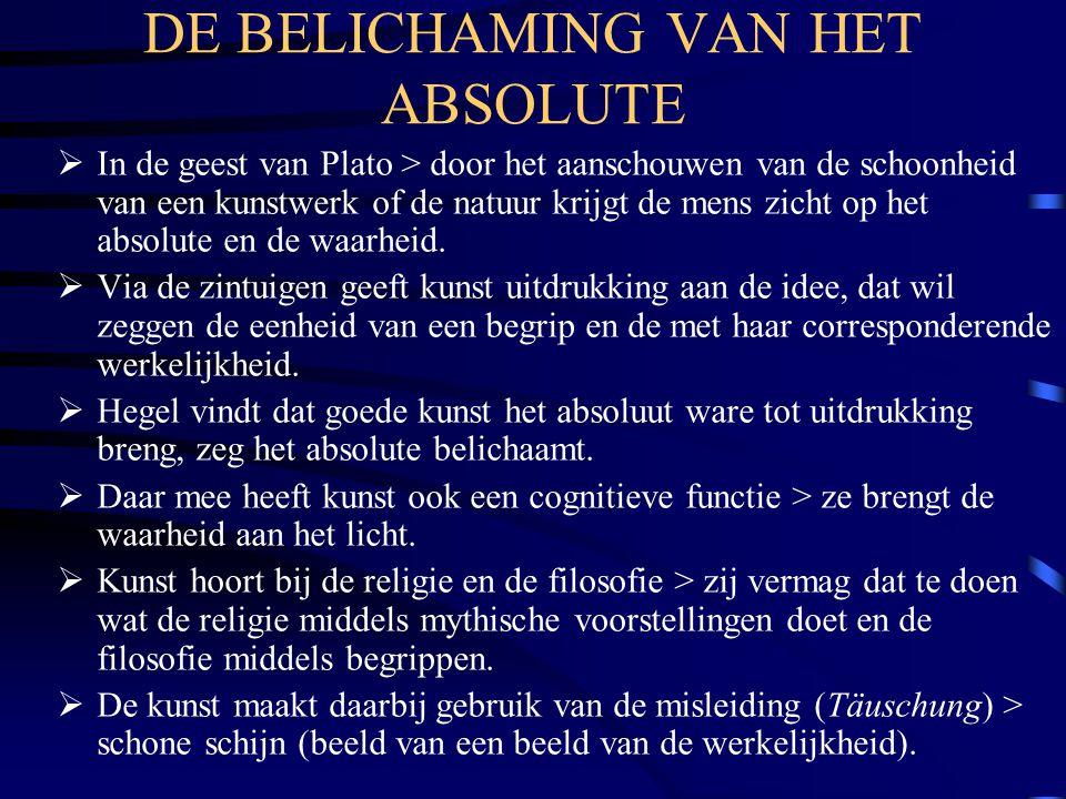 DE BELICHAMING VAN HET ABSOLUTE
