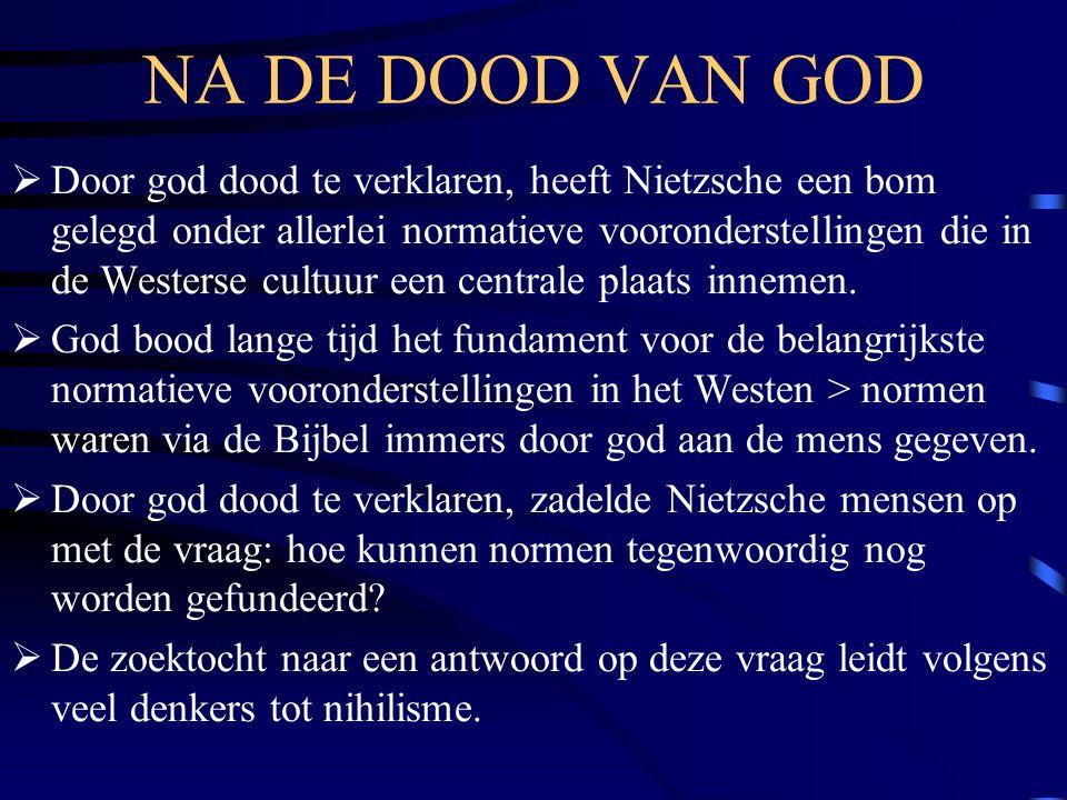NA DE DOOD VAN GOD