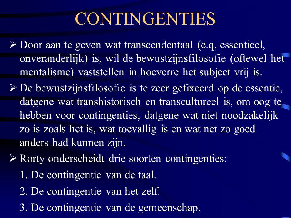 CONTINGENTIES