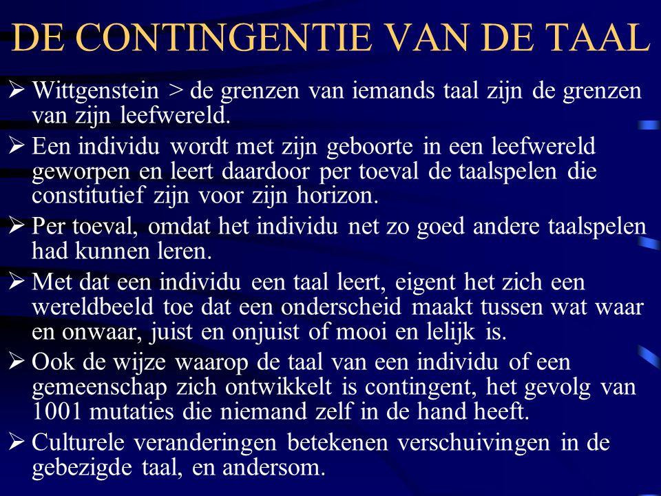 DE CONTINGENTIE VAN DE TAAL