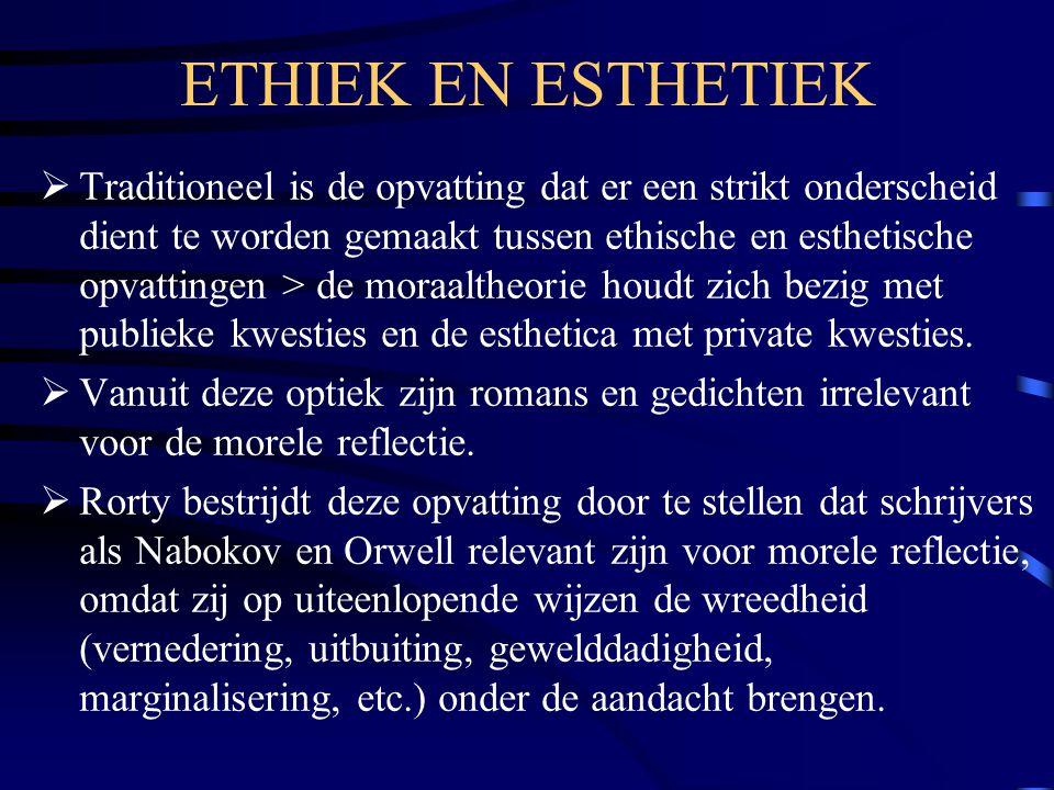 ETHIEK EN ESTHETIEK