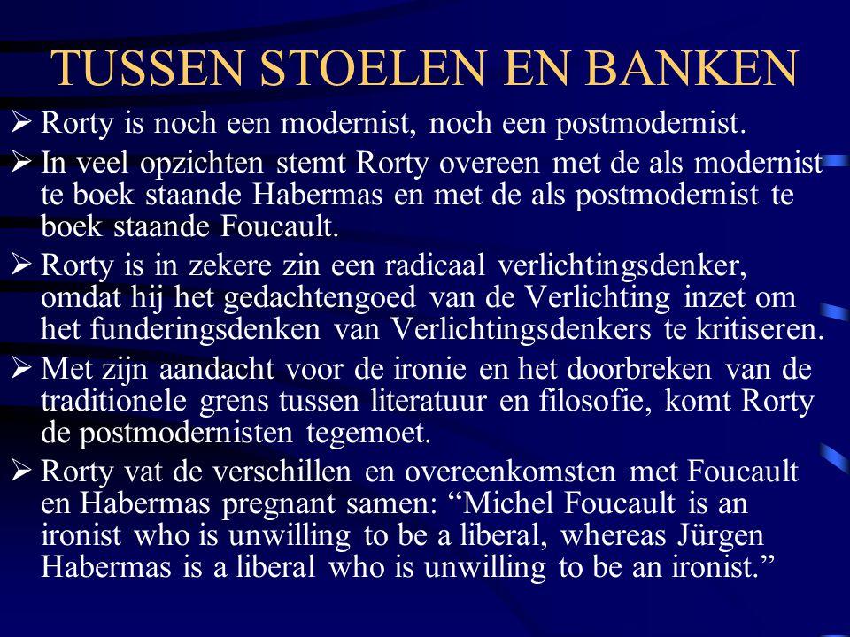 TUSSEN STOELEN EN BANKEN