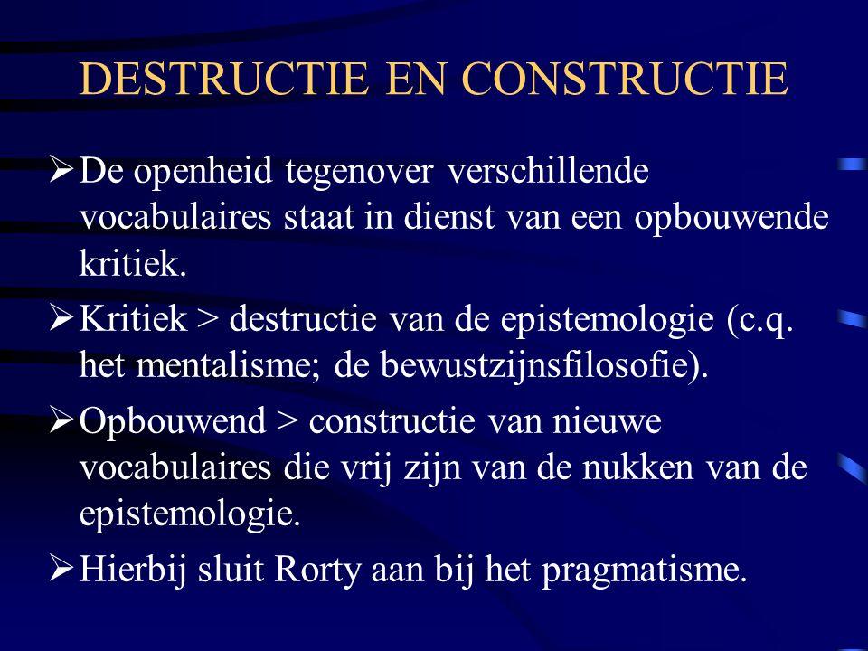 DESTRUCTIE EN CONSTRUCTIE