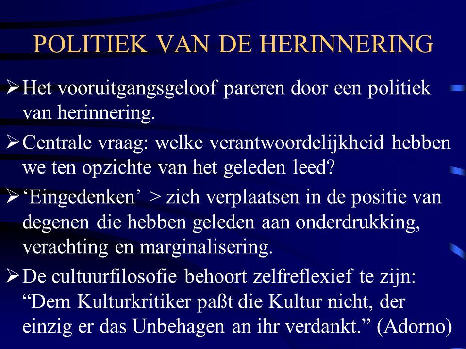 POLITIEK VAN DE HERINNERING