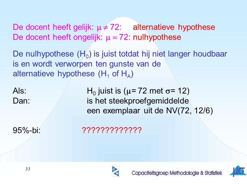 De docent heeft gelijk: m  72: alternatieve hypothese