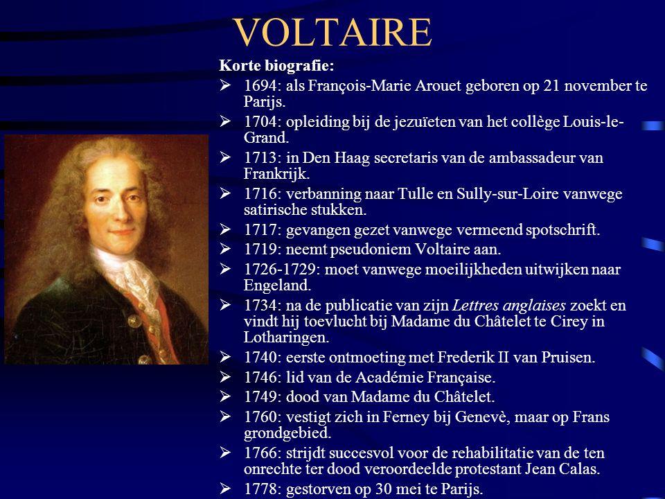 VOLTAIRE Korte biografie: