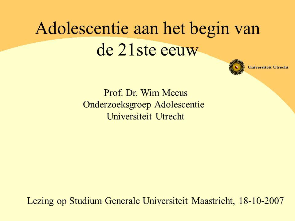Adolescentie aan het begin van de 21ste eeuw