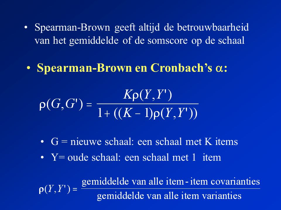 Spearman-Brown en Cronbach's :
