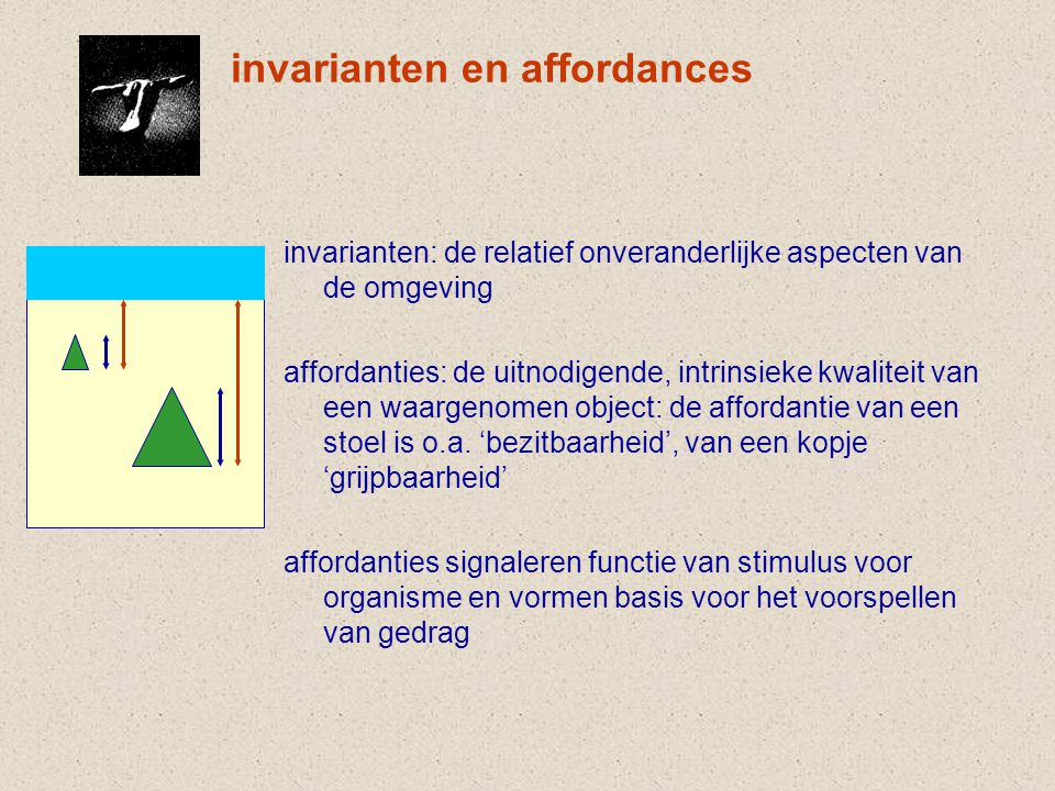 invarianten en affordances