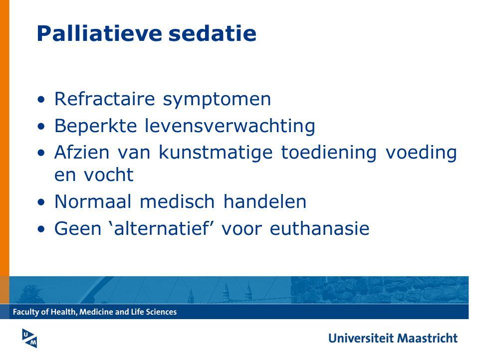 Palliatieve sedatie Refractaire symptomen Beperkte levensverwachting