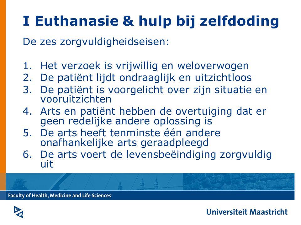 I Euthanasie & hulp bij zelfdoding