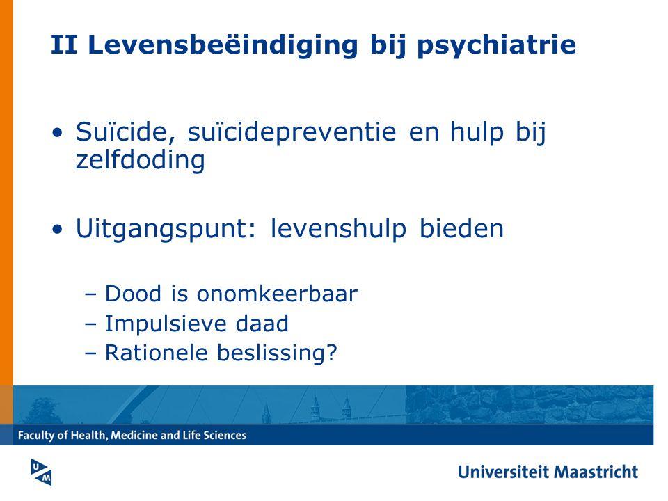 II Levensbeëindiging bij psychiatrie