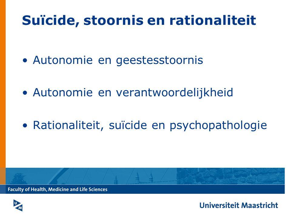 Suïcide, stoornis en rationaliteit
