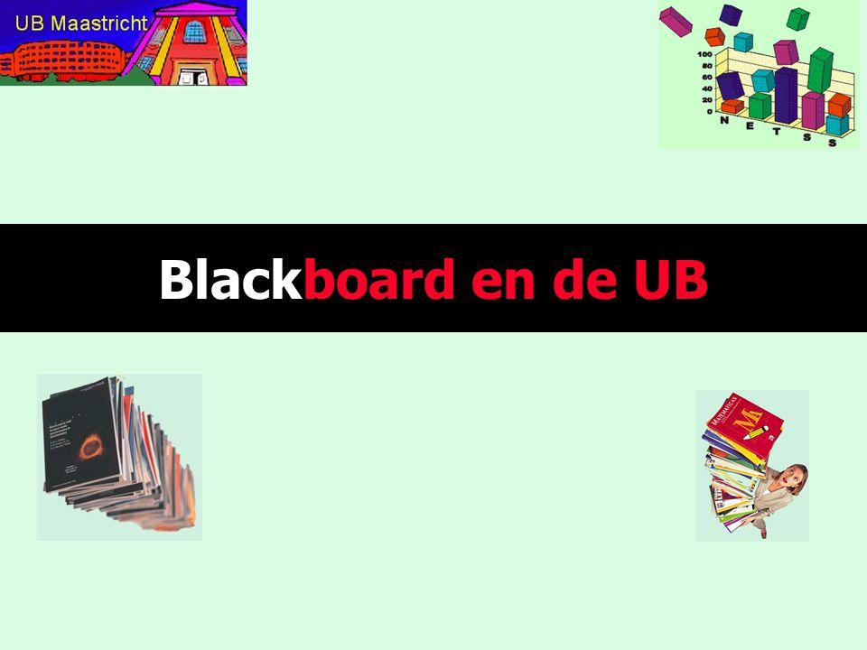 Blackboard en de UB Introdia (hetgeen zoals jullie weten het meervoud van introdium is)