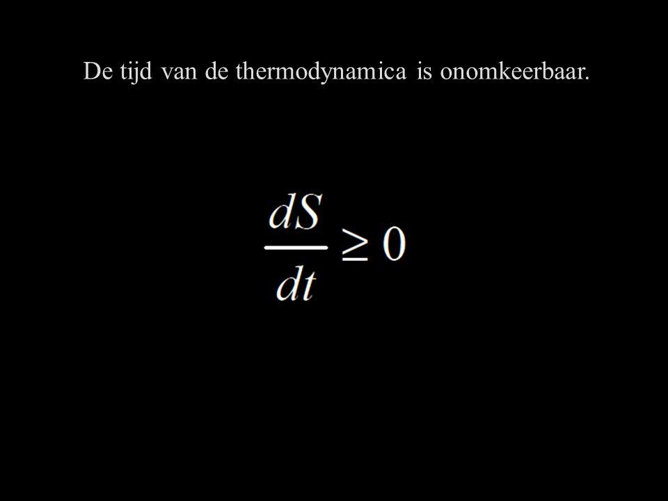 De tijd van de thermodynamica is onomkeerbaar.