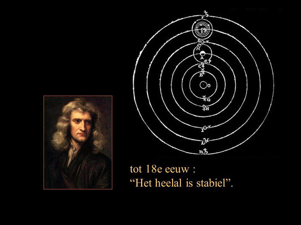 tot 18e eeuw : Het heelal is stabiel .