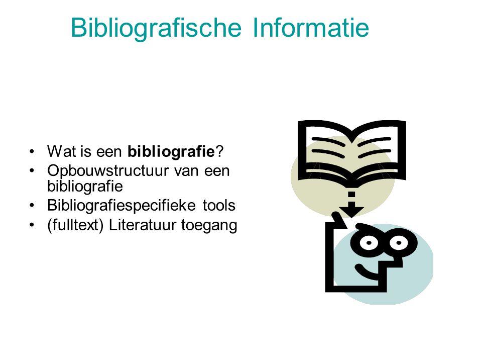 Bibliografische Informatie