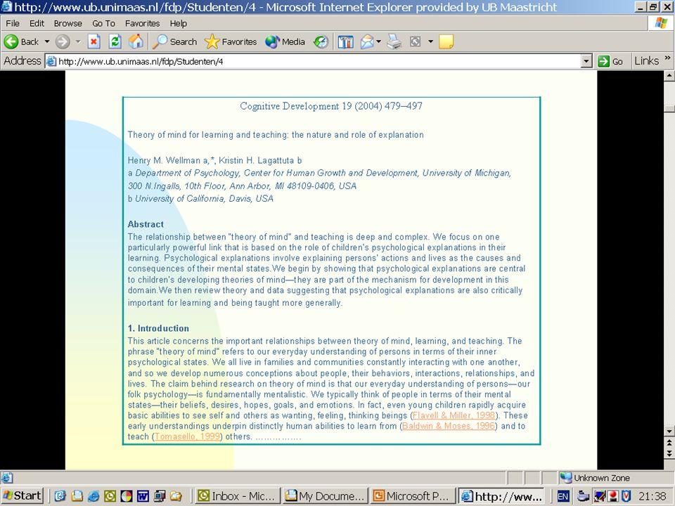 Voorbeeld van een artikel van Wellman om te laten zien hoe bepaalde gegevens in een literatuurverwijzing worden weergegeven.