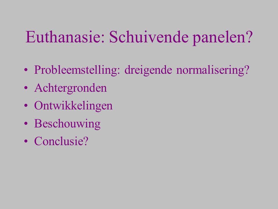 Euthanasie: Schuivende panelen