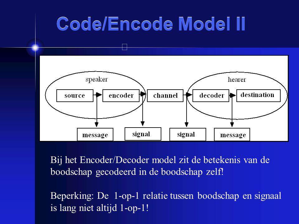 Code/Encode Model II Onderzoek: Color codability (Brown & Lenneberg, 1954) (betere codering leidt tot betere communicatie en herinnering!)