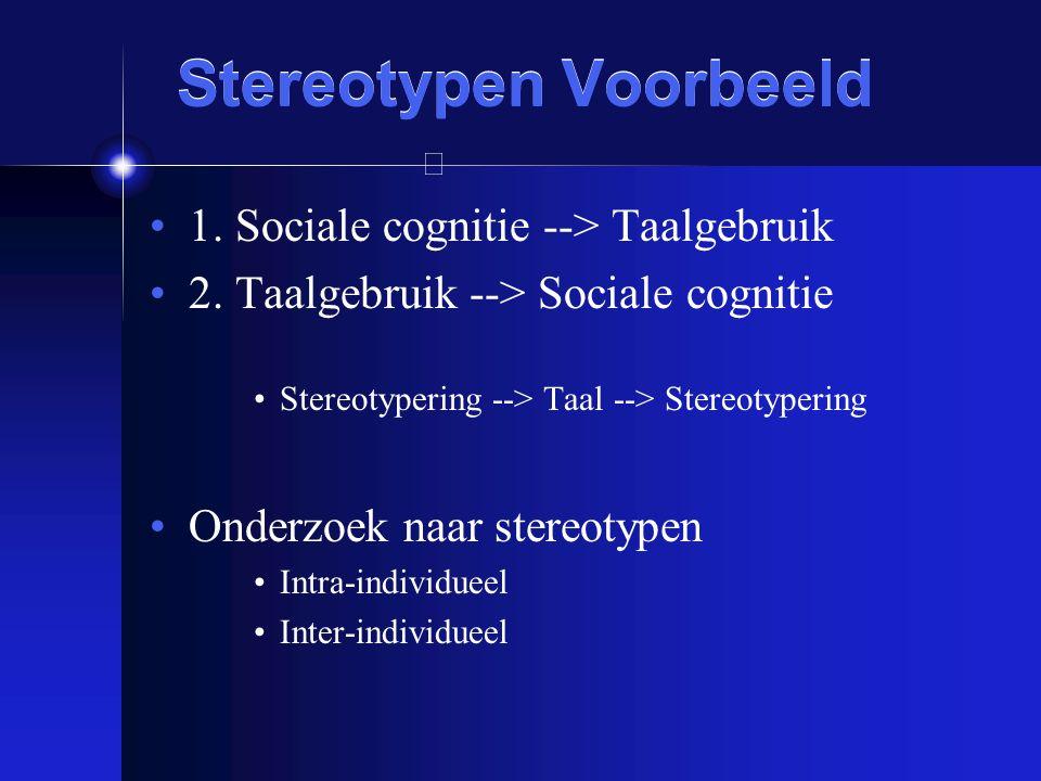 Stereotypen Voorbeeld
