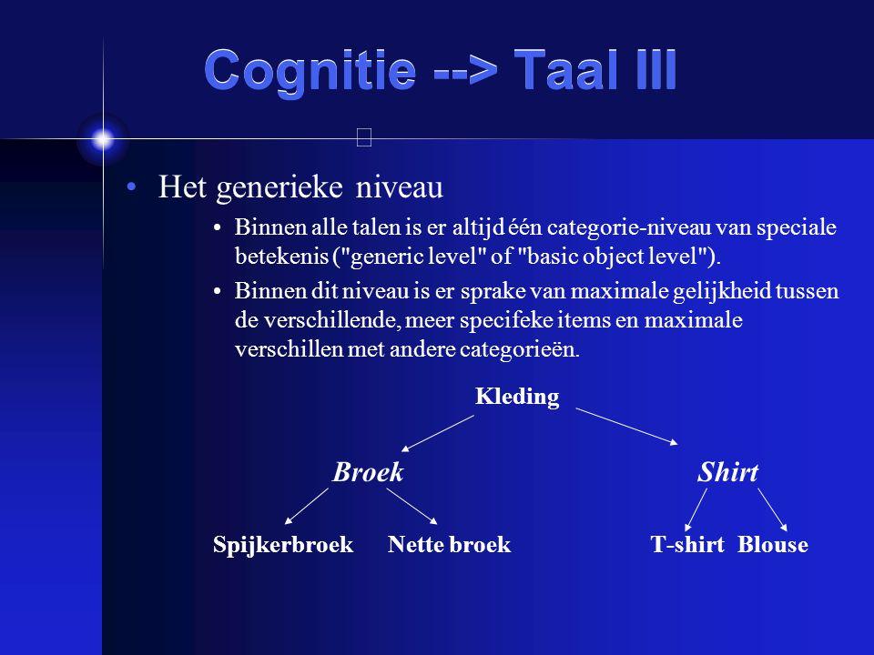 Cognitie --> Taal III