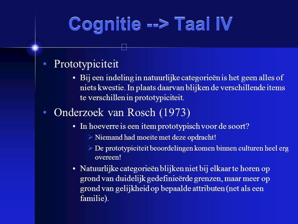 Cognitie --> Taal IV