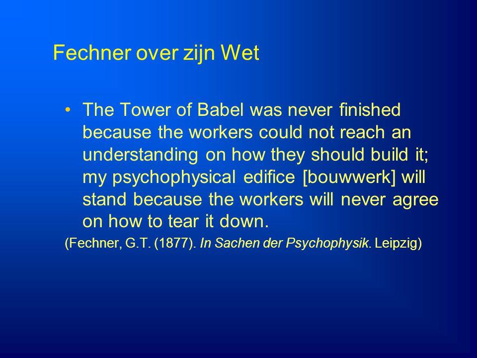 4/5/2017 Fechner over zijn Wet.