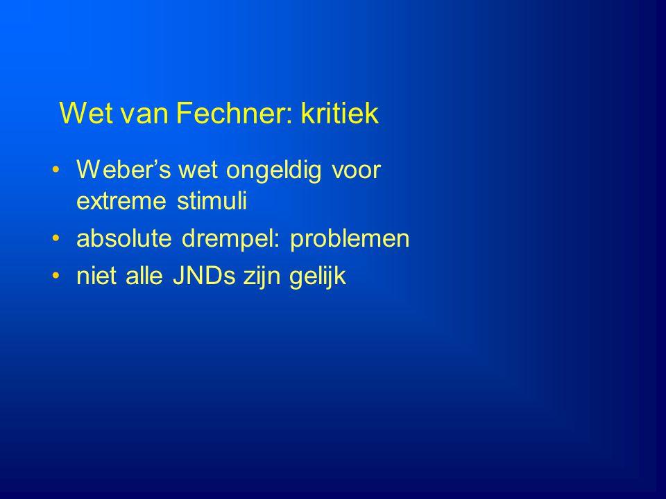 Wet van Fechner: kritiek
