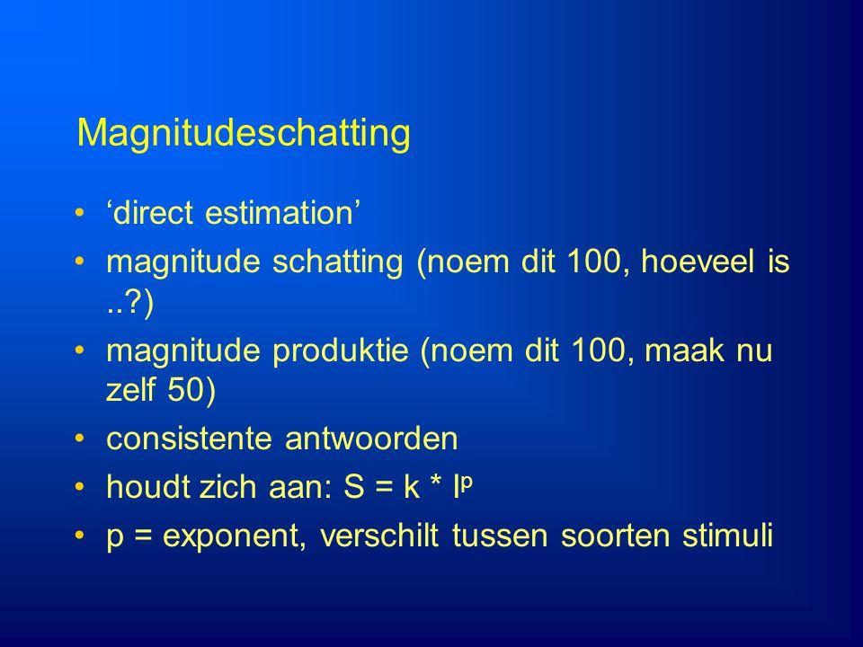 Magnitudeschatting 'direct estimation'