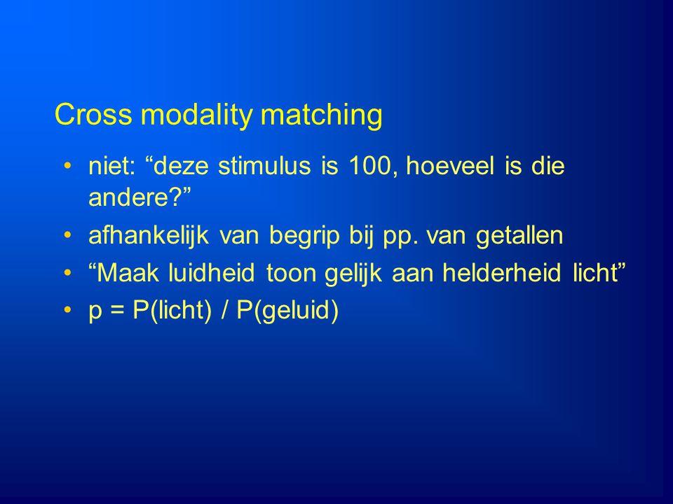 Cross modality matching