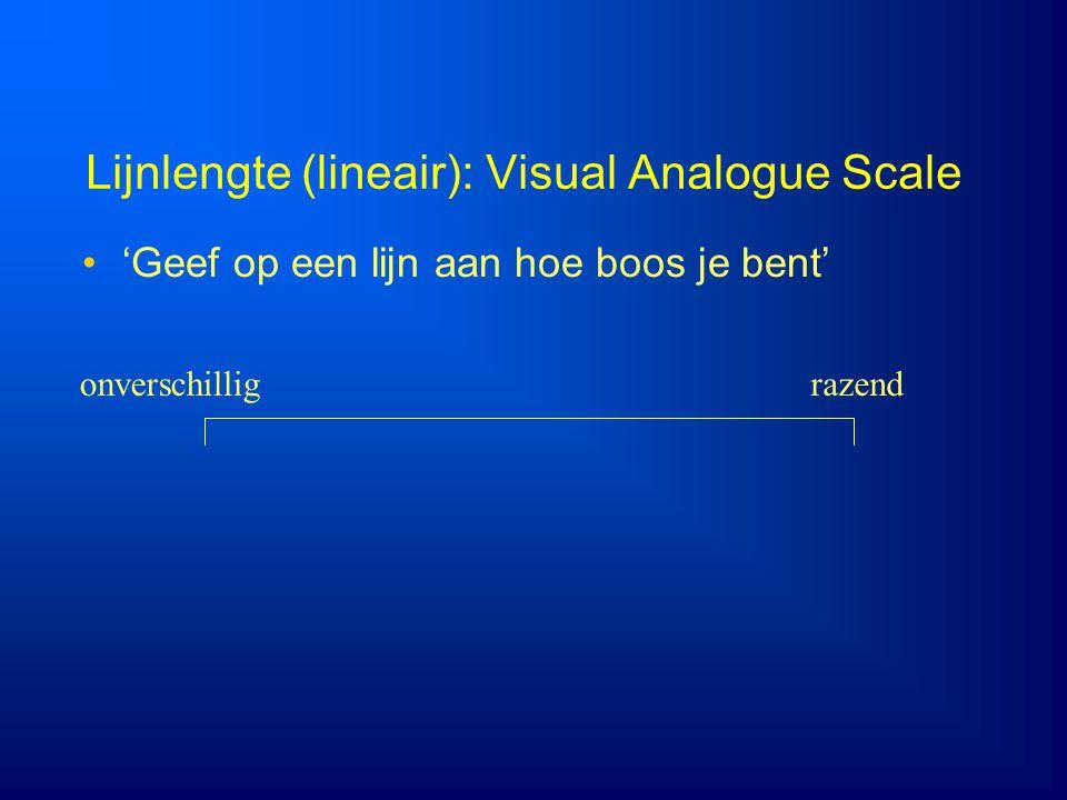 Lijnlengte (lineair): Visual Analogue Scale