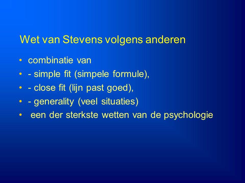 Wet van Stevens volgens anderen
