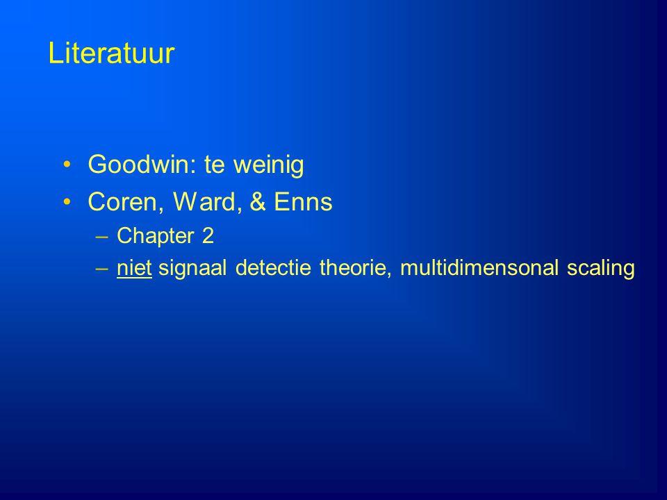 Literatuur Goodwin: te weinig Coren, Ward, & Enns Chapter 2
