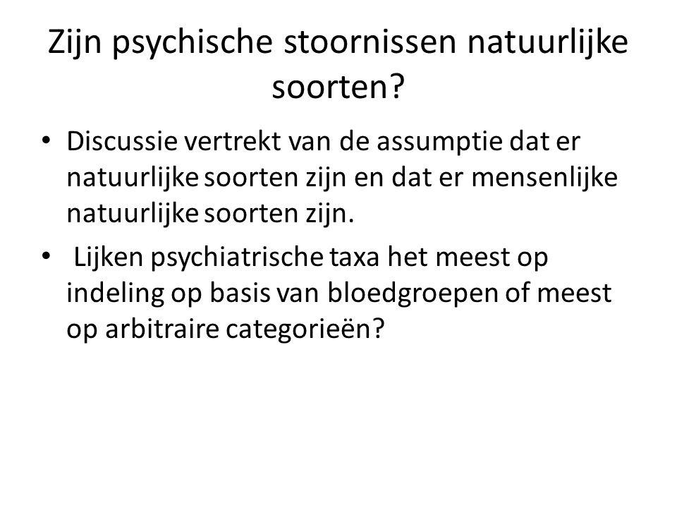 Zijn psychische stoornissen natuurlijke soorten