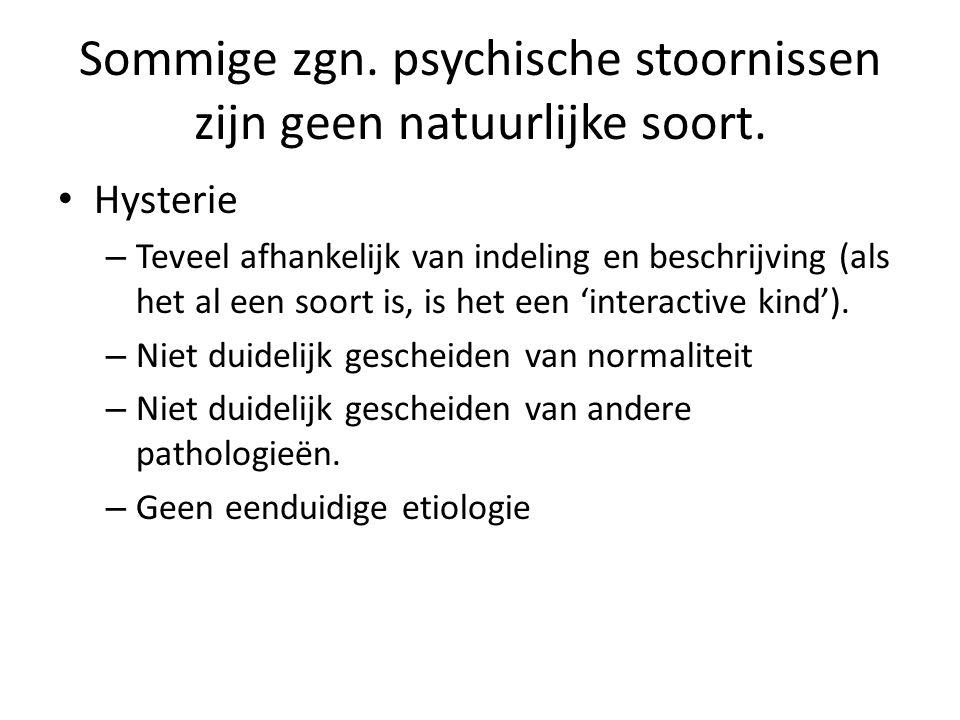 Sommige zgn. psychische stoornissen zijn geen natuurlijke soort.
