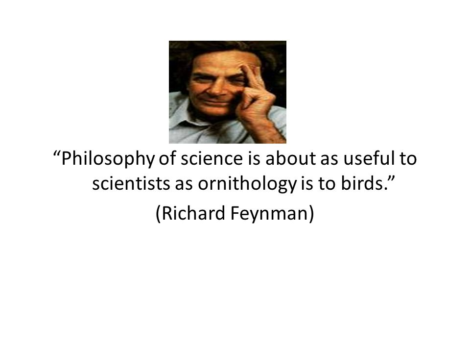 Philosophy of science is about as useful to scientists as ornithology is to birds. (Richard Feynman)