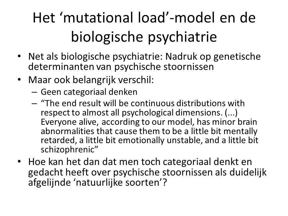 Het 'mutational load'-model en de biologische psychiatrie