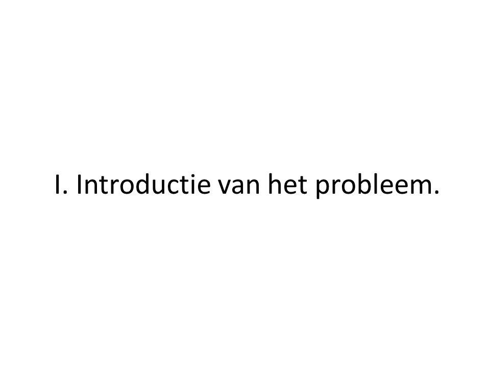 I. Introductie van het probleem.