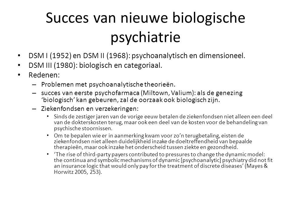 Succes van nieuwe biologische psychiatrie