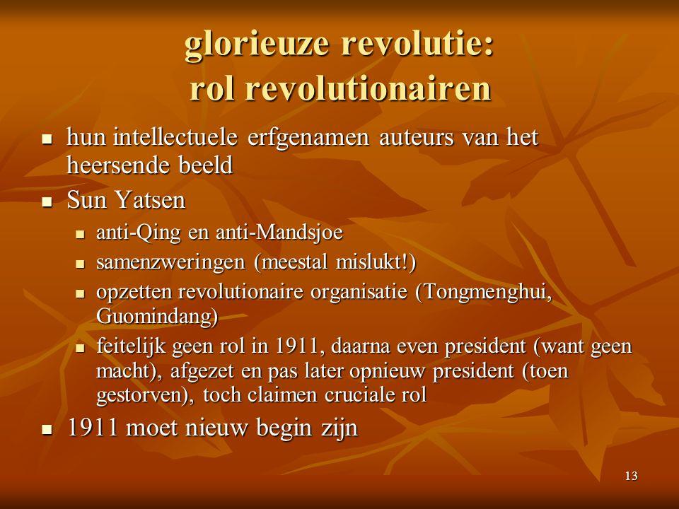 glorieuze revolutie: rol revolutionairen