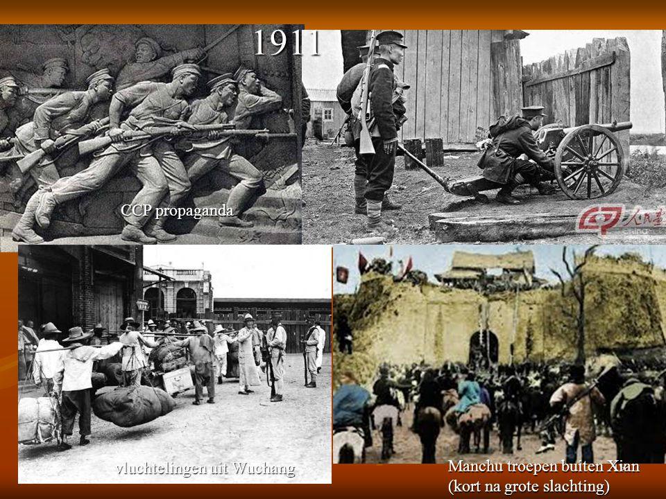 1911 CCP propaganda vluchtelingen uit Wuchang